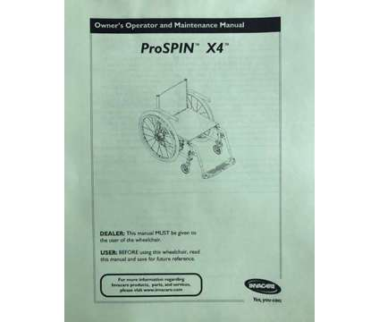 (NEW) Invacare ProSPIN X4S Ultralight Manual Wheelchair Lime Green is a Green Everything Else for Sale in Toronto ON