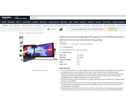 """(New) Mobile Pixels Duex Pro Portable HD Laptop Monitor 12.5"""" is a Computer Displays for Sale in Toronto ON"""
