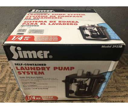 (NEW) Simer 2925B Self Contained Sump Laundry Sink Pump 1/4 HP is a Black Power Tools for Sale in Toronto ON