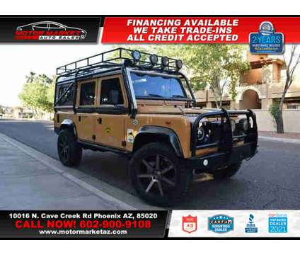 1986 Land Rover Defender for sale is a Yellow 1986 Land Rover Defender 110 Trim Car for Sale in Phoenix AZ