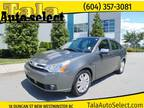 2010 Ford Focus SEL AUTOMATIC LEATHER MOONROOF LOCAL BC