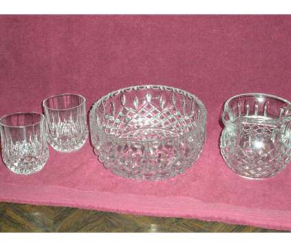 Cut Glass Crystal pitcher set is a Antiques for Sale in Pacoima CA