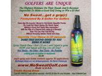 All Golfers Play Better! Stops Sweaty Grips, Safely All Day