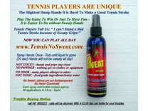 TENNIS We Stop Sweaty Grips Fast! A Win Win For You! More Aces, More Fun