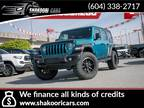 2020 Jeep Wrangler Unlimited Sport   Lifted, 35inch Tires, Low KMs, Bikini Pearl