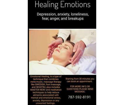 HEALING EMOTIONS: #Depression, #anxiety, #loneliness, and #breakups is a Massage Services service in San Juan PR