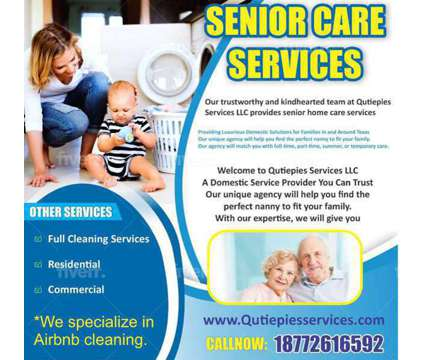 Qutiepies Nannies & Cleaning Services is a Elderly Care service in Seagoville TX