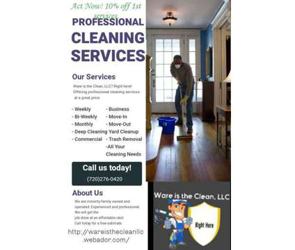 Start With our Cleaning Services is a Home Cleaning & Maid Services service in Denver CO