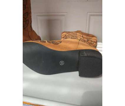 Rustic Western Cowboy Style Women Knee High Butterfly Embroidered Boots is a Shoes for Sale in Baltimore MD