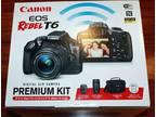 NEW Canon Rebel T6 SLR Camera 2 lens Kit with 18-55&