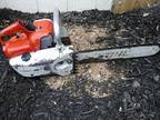 Vintage Stihl 08S S10 Chainsaw - solid shape -