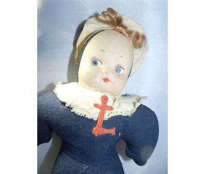Post WWI Americana Military Folk Art Dolls - Antique Doll Set of Three is a Blue, White Antiques for Sale in Sandy Springs GA