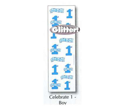 1st Birthday Stickers is a Blue, White Toys for Sale in Lithia Springs GA