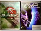 """$5 FEAR & FRIGHT Night - """"Jurassic 3"""" & """"AVP"""" Dvd Combo"""