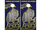 Michigan Wolverines Cornhole Board Wraps Skins Vinyl