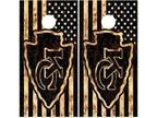 Kansas City Chiefs Flag Cornhole Board Wraps Skins Vinyl