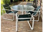 Brown Jordan Aluminum Patio Table and 4 Chairs