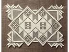 """Two 14"""" x 19"""" Lace Place Mats Ecru Country Quilt Livingroom"""