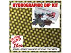 Hydrographic dip kit Candied Dark Gold Carbon Weave hydro